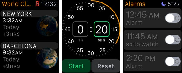apple watch world timer alarm