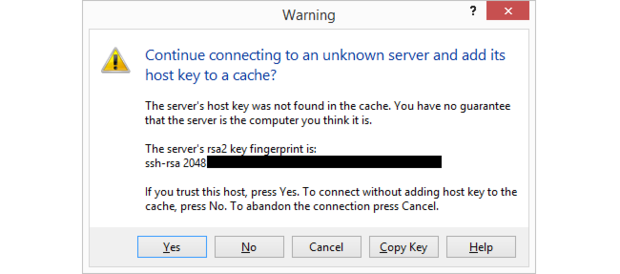 The easy way to add a remote server key.