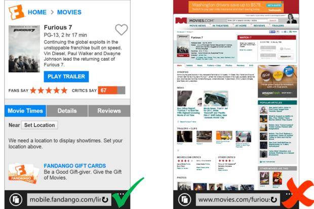 Bing mobile ranking