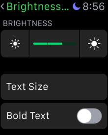 change brightness apple watch