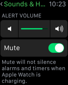 disable apple watch sounds