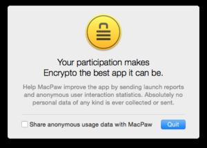encrypto usage data request