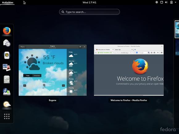 fedora gnome shell desktop