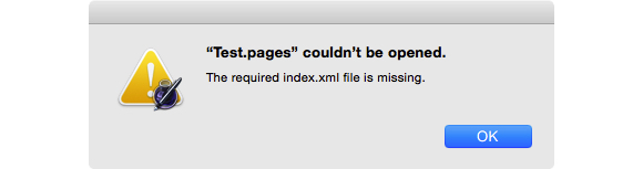 file missing index xml file