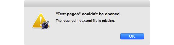 file missing index xml file