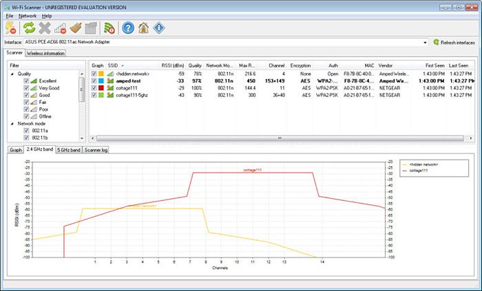LizardSystems Wi-Fi Scanner (Windows)