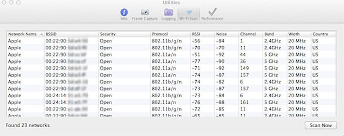 Wireless Diagnostics (Mac OS X Lion and later)