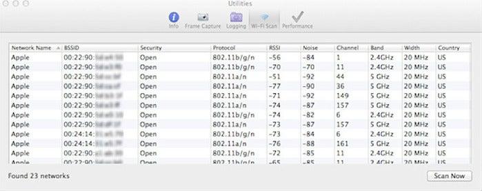 Wireless Diagnostics (Mac OS X Lion and later)