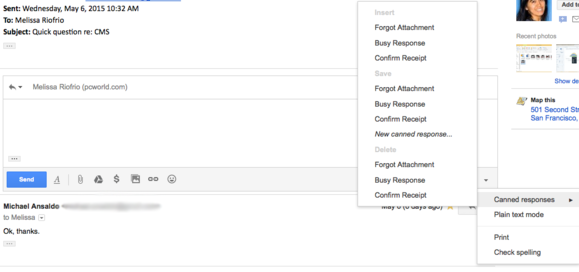 gmail labs canned responses