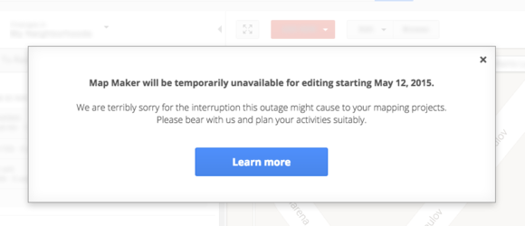google map maker unavailable