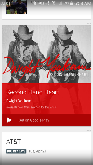google now album music