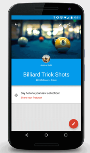 google plus collections android