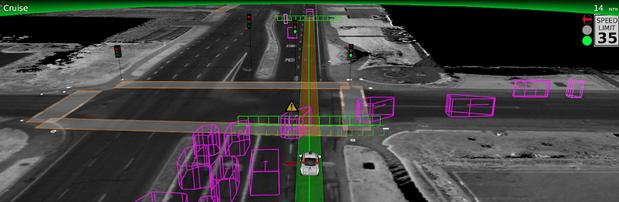 google self driving car right turn