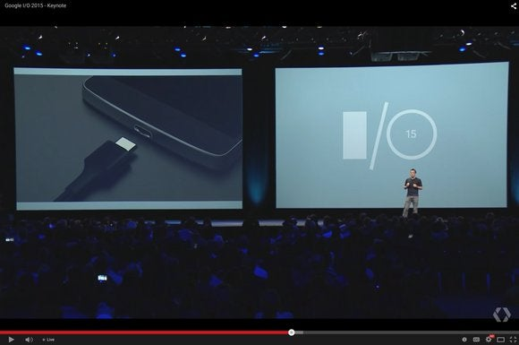 google io 2015 usb c port charging