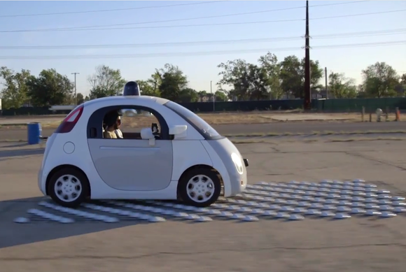 google self driving car two male staffers reliability bump track may15 2015 12