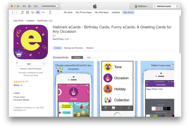 hallmark's new ecard mobile app hopes to target 'soulless, Birthday card