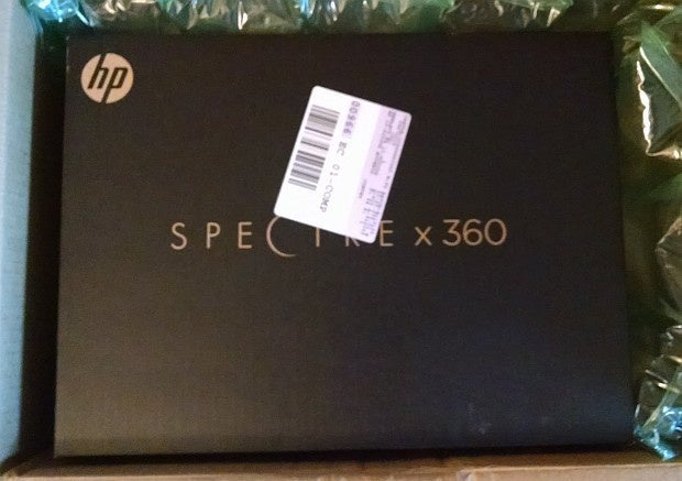 hp Spectre laptop in box