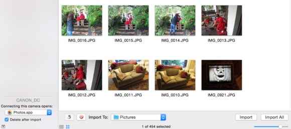 image capture deletee after import