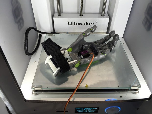 A prosthetic hand 3D printing