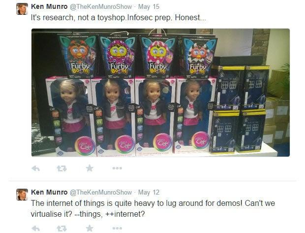 Ken Munro hacking Internet of Things toys