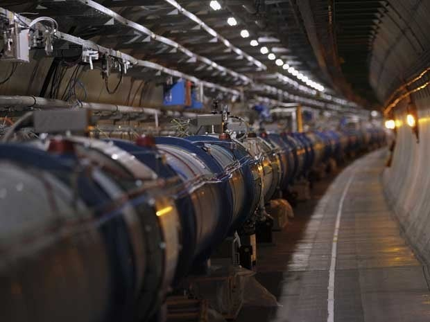 The Large Hadron Collider tunnel at CERN