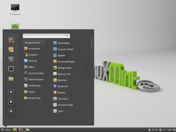 linux mint 17 cinnamon menu