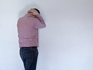 male victim sad