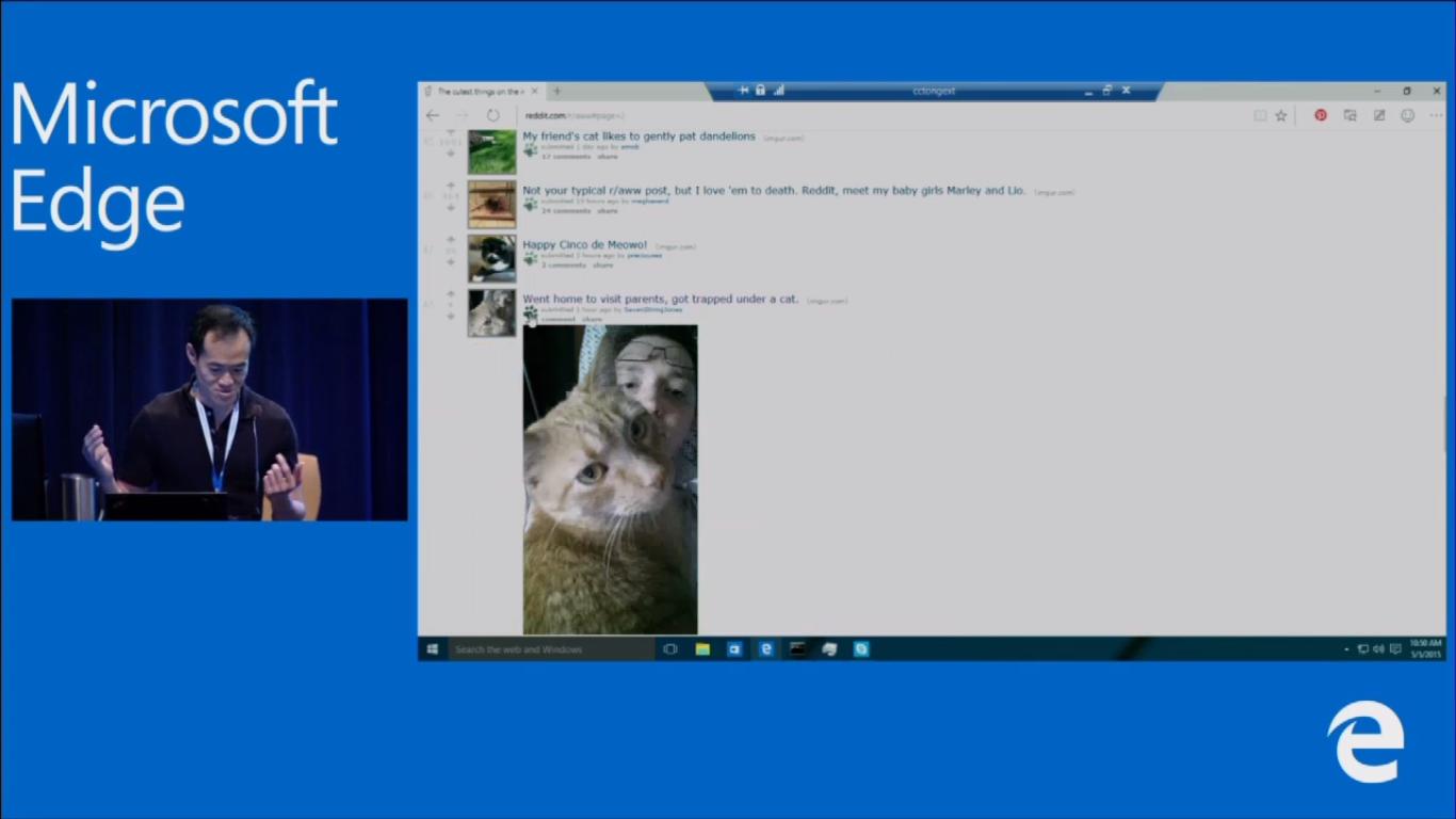 Microsoft's Edge web browser roadmap includes more Cortana