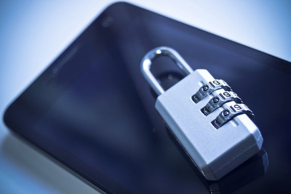 mobile security stock image padlocked smartphone
