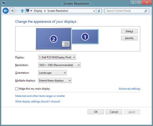 多台显示器Windows屏幕分辨率