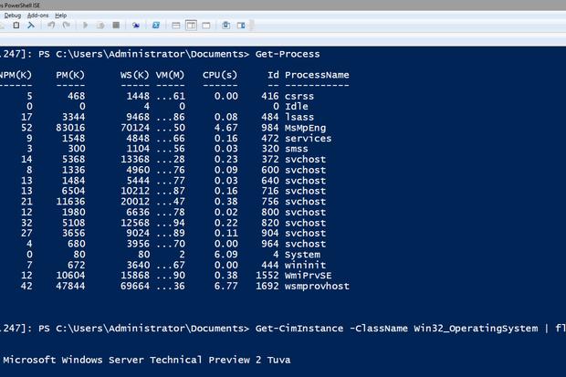 Nano Server PowerShell
