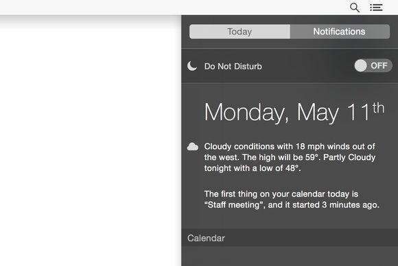 notification center do not disturb