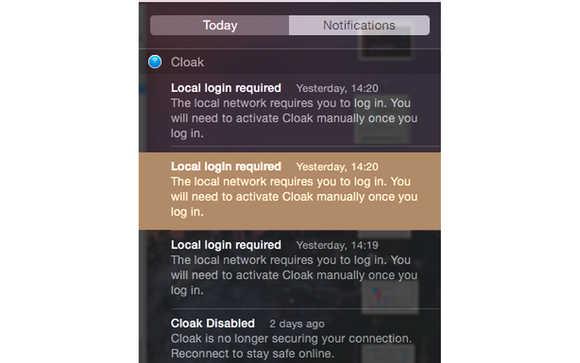 notification center select
