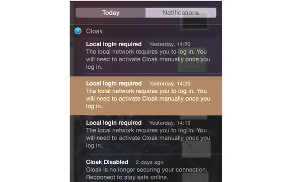 notification center select