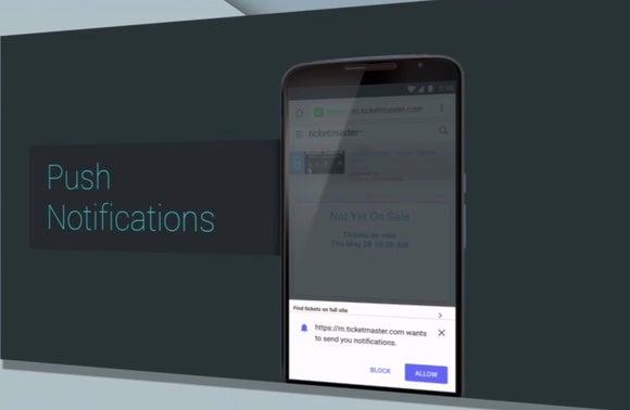notifications websites chrome