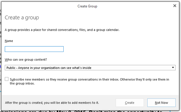 office 2016 groups