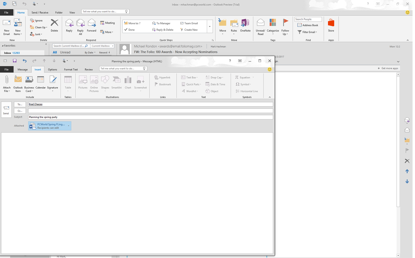Microsoft Office 2016 Preview Hands On With The New Features Pcworld