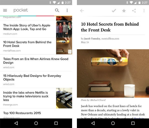 Pocket Material Design