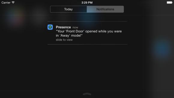 Presence lockscreen alert