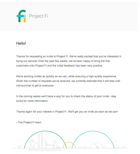 Google pledges to fulfill all Project Fi invites by mid