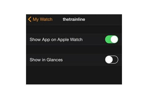 remove app apple watch