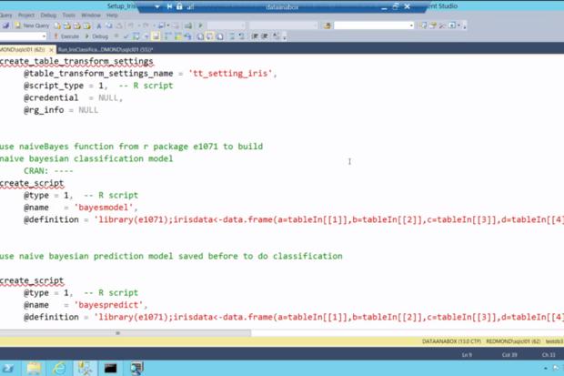 R in SQL Server
