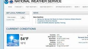 National Weather Service website