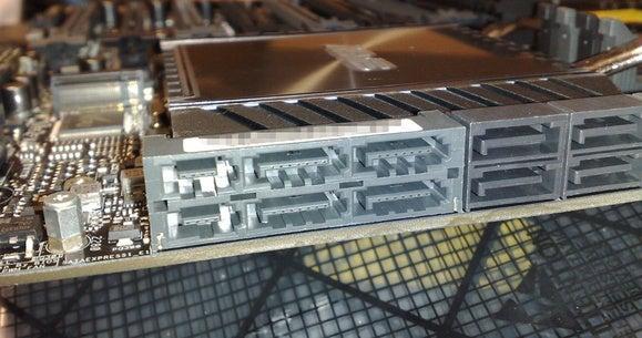 sata express connectors on a computer motherboard