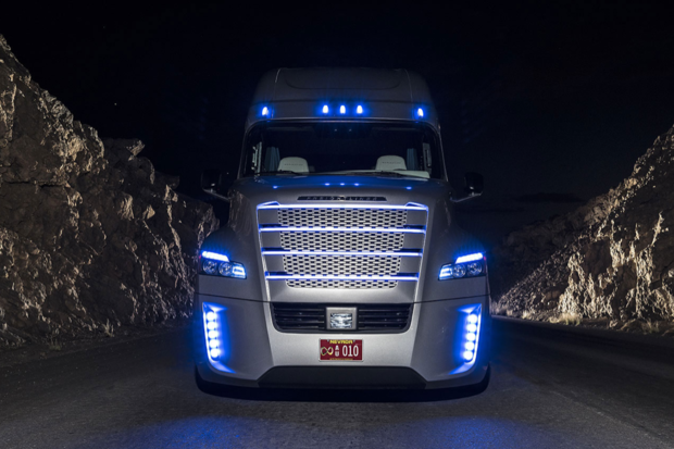 Daimler's Freightliner Inspiration Truck is fully licensed to self-drive on Nevada's highways.