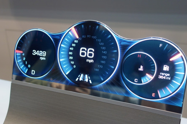 Sharp's free-form display LCD for cars