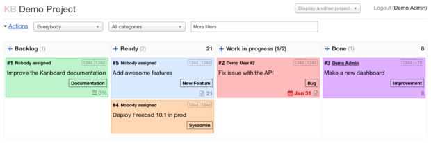 Kan you do Kanban? Yes, you kan with Kanboard (and it's FOSS