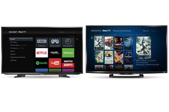 Sharp and Insignia Roku TVs
