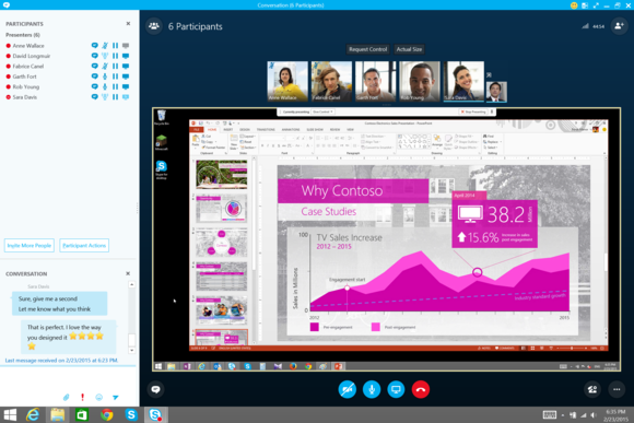 skype for business desktop sharing