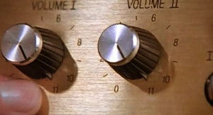 Spinal Tap amps go to 11